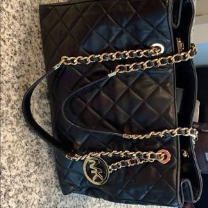 Large Quilted Michael Kors Handbag